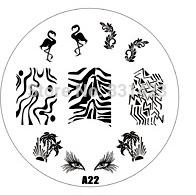 2015 new A Series A22 Nail Art Polish DIY Stamping Plates Image Templates Nail Stamp Stencil