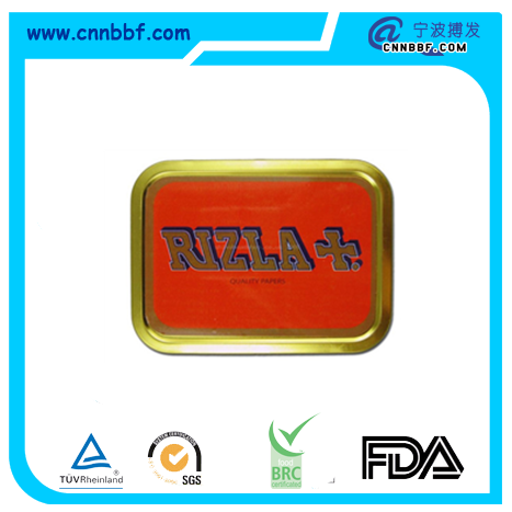Tobacco tins rectangle metal tin boxes for cigarette