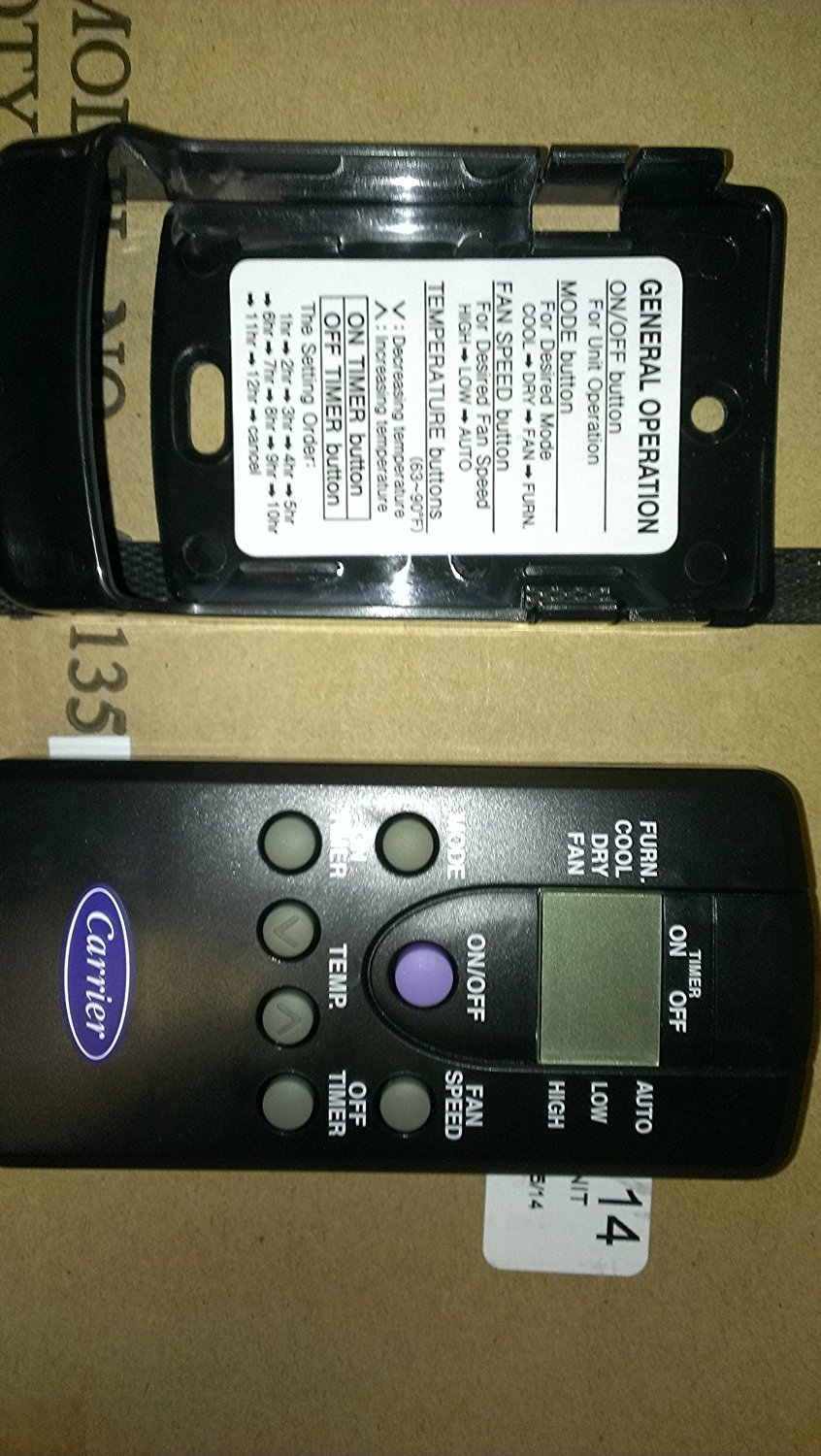 Get Quotations · Carrier Airv RV AC ONLY Version Air Conditioner Remote  Thermostat Black