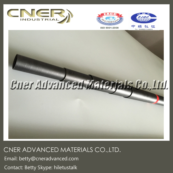 25 feet <strong>Carbon</strong> fiber & fiberglass hybrid telescopic pole for water fed pole with locking system