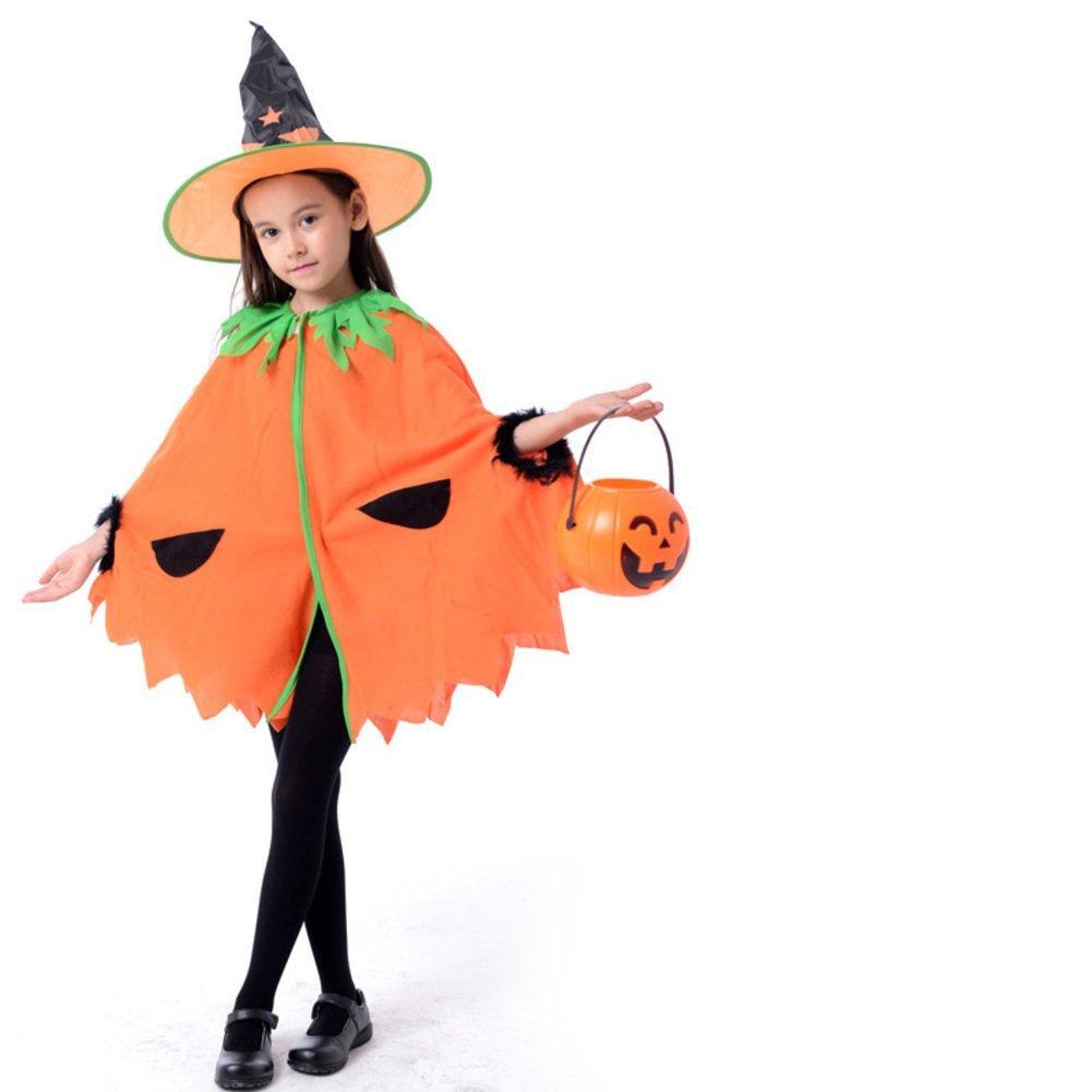 Halloween children's clothing/Cloak Set/Demon witch magician/Children's clothing pumpkin Cloak-G