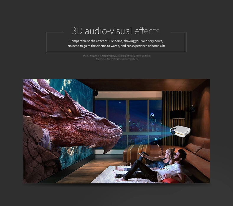 YG400 Factory Directly Sell 1080P HD MINI Projector 1200 Lumens Brightness 4M Projection
