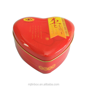 Decorative Rhinestone Beads Heart Shape Plush Boxes for Candy or Romantic Gift Tin Boxes