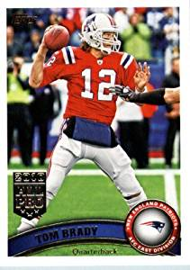 6a94c7cbc60 2011 Topps Football Card   400 Tom Brady   (red jersey) - New England  Patriots - NFL Trading Card in a Protective Case!