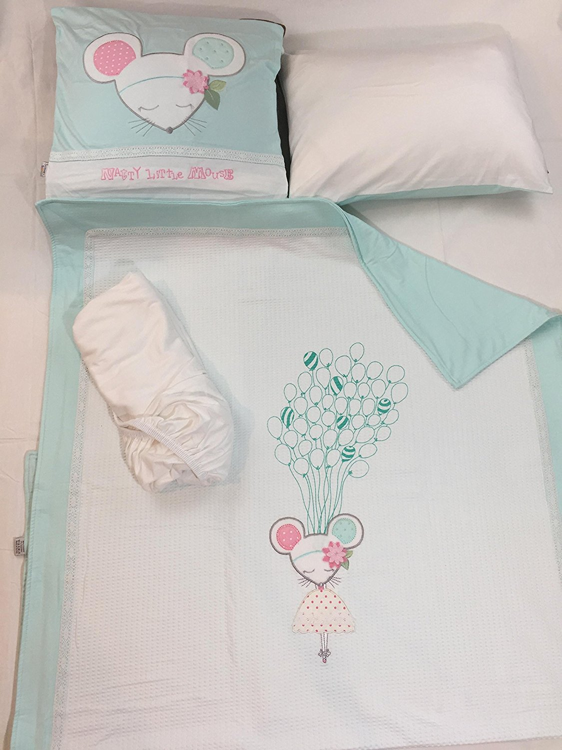 baby shee cotton patchwork shell ruffle cheap piece and for peanut crib green bedding polka set cribs quilt dots fitted the medallions sale ip girl mint dust pink coral under floral