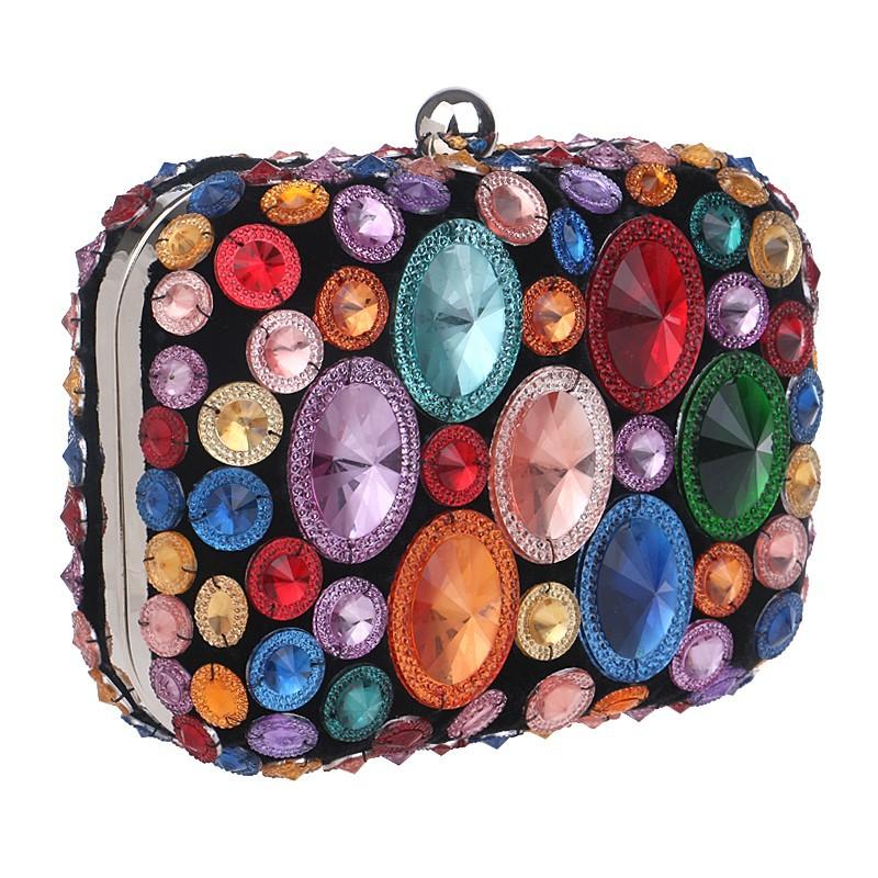 19c61bcbfd68 Купить Женский клатч с крупными камнями в интернет магазине с ...