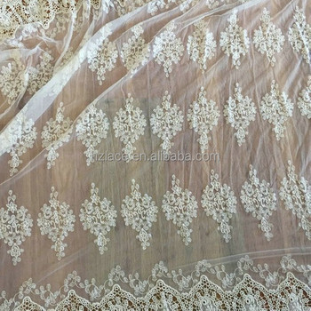 wide swiss water soluble nylon mesh lace fabric