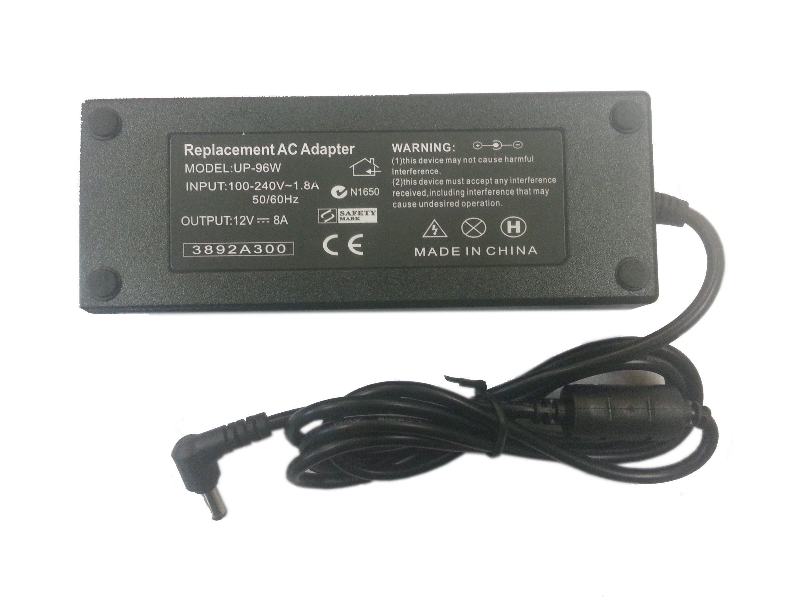 Autolizer US plug AC 100-240V To DC 12V 8A Power Supply Converter Adapter for 3528/5050 LED Lights Strips Wireless Router, ADSL Cats, HUB, Switches, Security Cameras, Audio/Video Power Supply, and many other applications