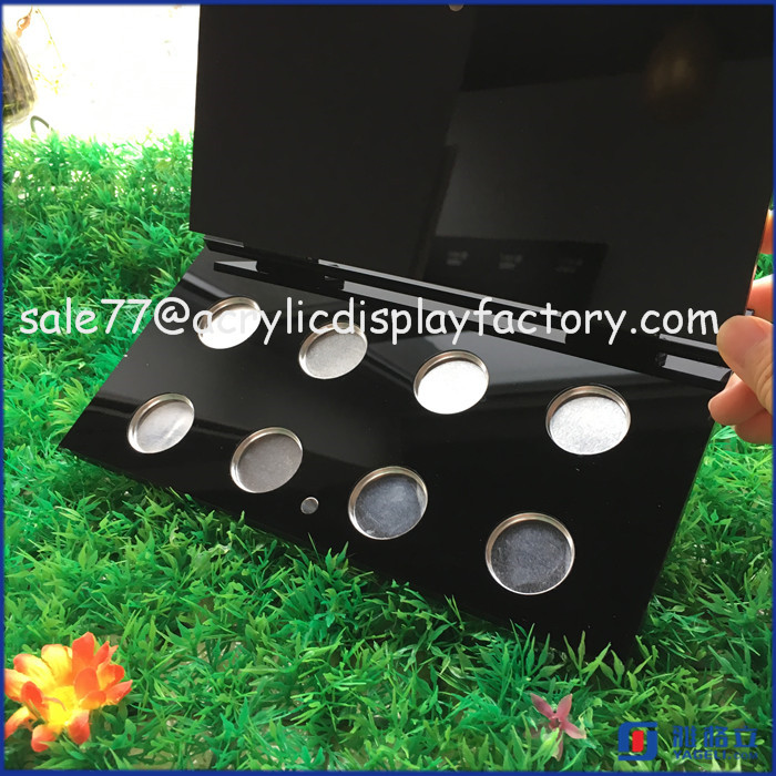 Customize luxury mac cosmetics eyeshadow display, eye shadow pallet display stand, makeup display organizer