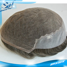 Stock Men Hair Piece Toupee with Swiss Lace and PU back
