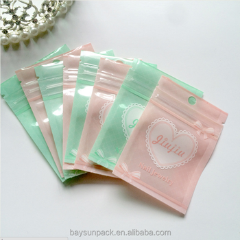 Polyester China Chuck accessories Headdress Earrings necklace packaging plastic storage bags pouch zipper bag with high quality