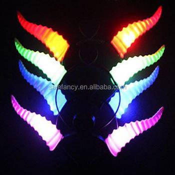 Party Christmas Light Up Antelope Led Flash Devil Horn Hair Hook Ears Headband Cosplay For Holiday Celebration Qhbd 8330 Buy Party Headband Led