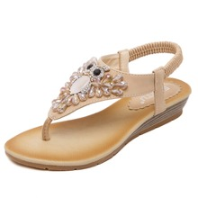 Latest fashion classic diamond design girl rubber wedge sandals