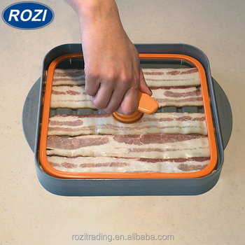 Bacon Boss Wave Microwave Cooker As Seen On Tv Tray Original Dishwasher Safe Cookware