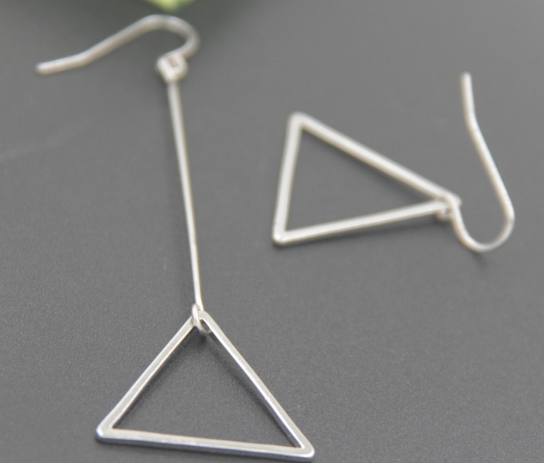 Promotional hot sale double years geometric shape earrings