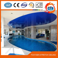 5M Glossy stretch ceiling for restaurant /Hotel/ shopping mall / airport/ stadium ceiling decoration