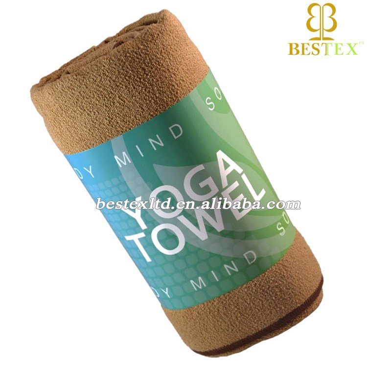 Wholesale Eco fitness Smooth surface Microfiber Sport yoga towel modern design
