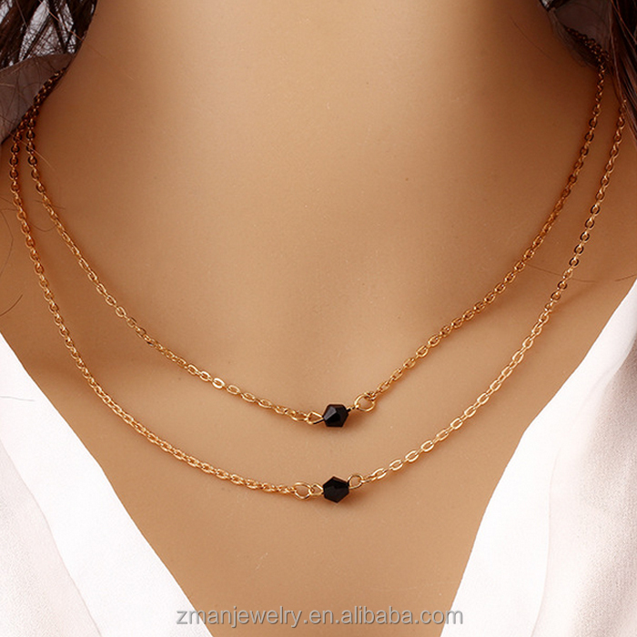 Jewelry Double Gold Chains Necklace, Jewelry Double Gold Chains ...