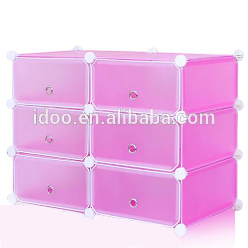 Nuevo dormitorio 6 cubos de plástico debajo de la cama del gabinete ...