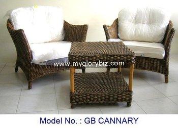 Indoor Rattan Sofa Set In 1 2 For Home Living Room With Elegant Design