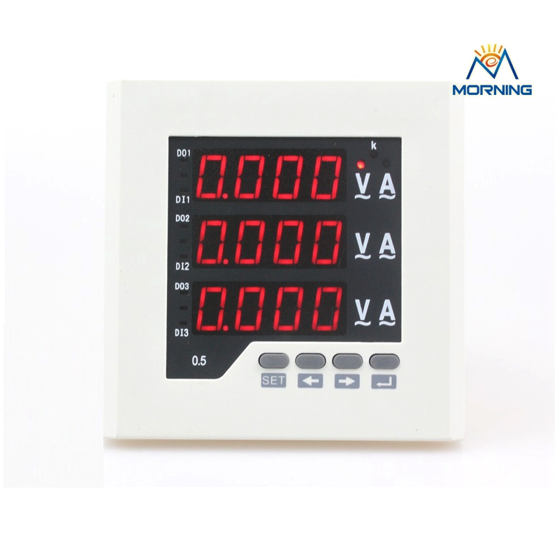 The three phase voltage current and active power combination meter