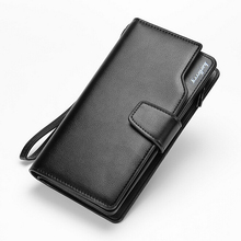 2015 New men wallets Casual wallet men purse Clutch bag Brand leather wallet long design men bag gift for men