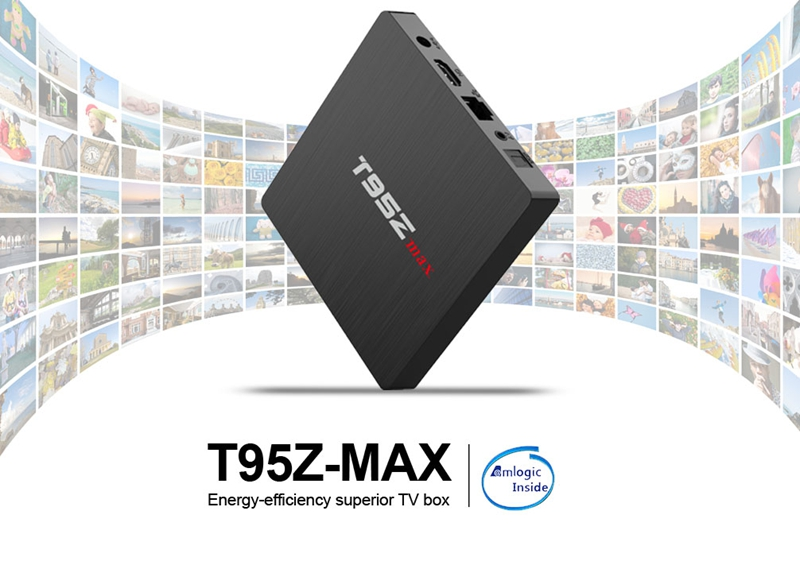 OEM android caja de tv sintonizador dual T95Z MAX amlogic S912 4 K global tv box 2 GB 16 GB Android 7,1 android tv box