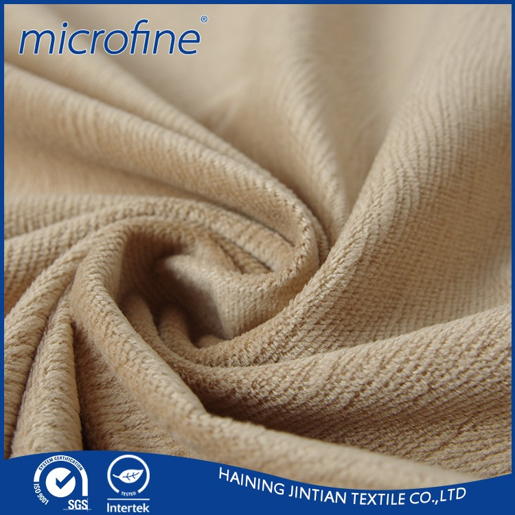 hot sale 100% polyester plain dyed tricot knitted textile material fabric