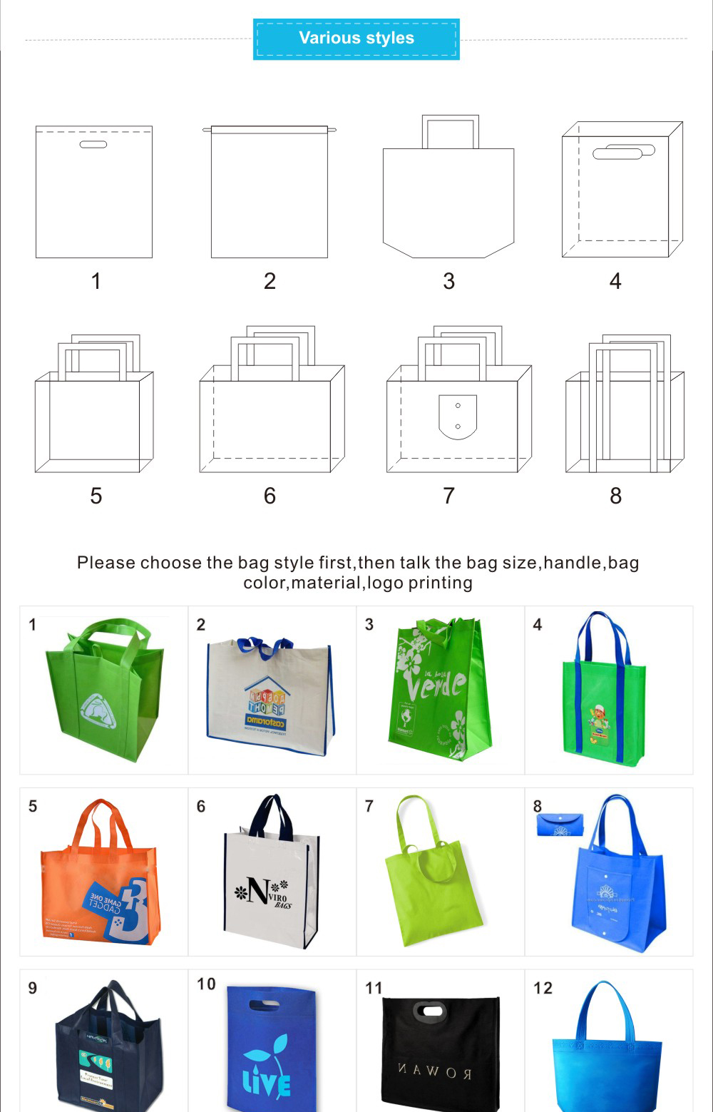 Ginzeal Customized Low Price Non Woven Bag For Shopping