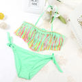 Children Swimwear 2016 Tassel Girls Swimwear Kids Biquini Infantil Swimsuits Bikini Girl Bathing Suit Cute