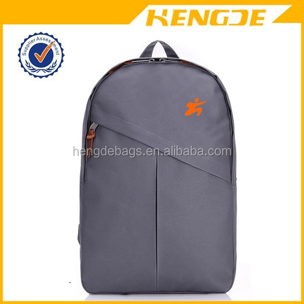 2015 latest design leisure backpack grey school parker double shoulder back bag