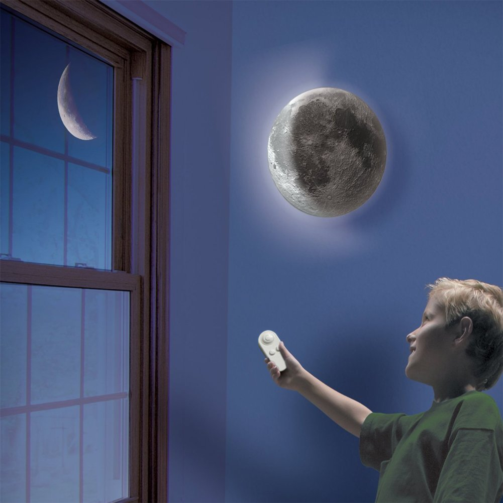 Get Quotations · SZMINILED Moon Light LED Wall Mount Night Moon Lamp