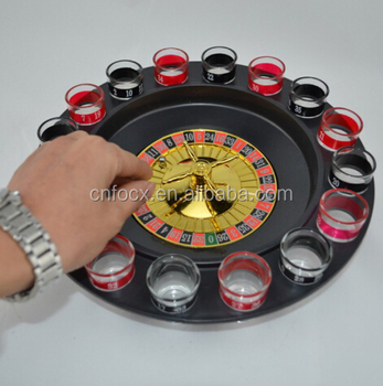 Shot glass roulette drinking game set , russian turntable wine set , holiday drinking game