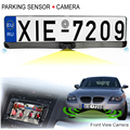 HD CCD EU European Car License Rear View Camera Front View Camera License Plate Frame Parking