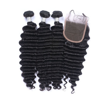 10a virgin hair vendors brazilian virgin hair deep wave bundles with lace frontal