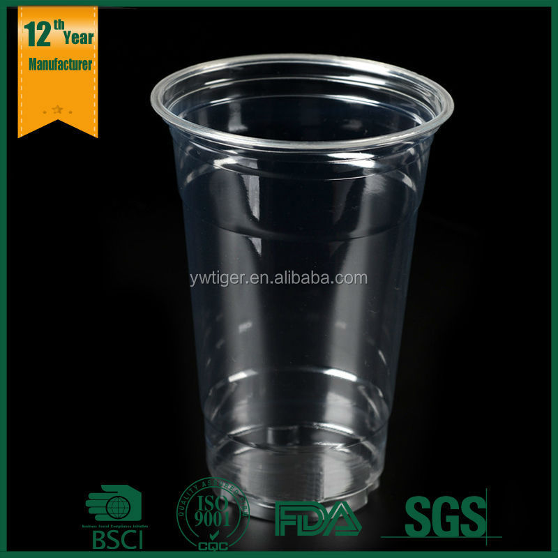 plastic cup,clear pet cup,custom logo 16oz pet