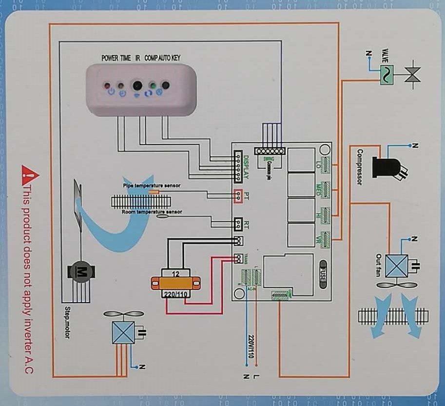 Full  function circuit board QD-U03A+ universal a/c control system or air conditioner remote control universal