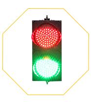 Prix de gros étanche rouge vert boîtier PC 200mm feu de signalisation