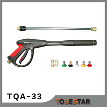 "TQA-33 Quick Disconnect Pressure Washer Gun Nozzle Kit Wand Spray Tips 4000 Psi 19"" NEW"