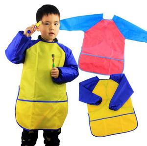Kids Art Smock Artist Waterproof Children Painting Aprons Long Sleeve with 3 Pockets