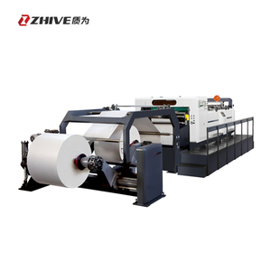 Industrial automatic high speed round paper cutter machine