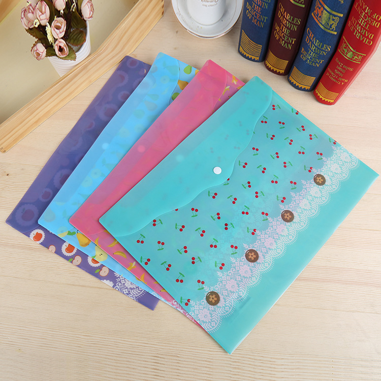 Promotion gift A4 PP plastic folder with pockets