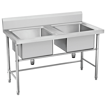 Stainless Steel Double Bowl Kitchen Sink Price With Drain Board