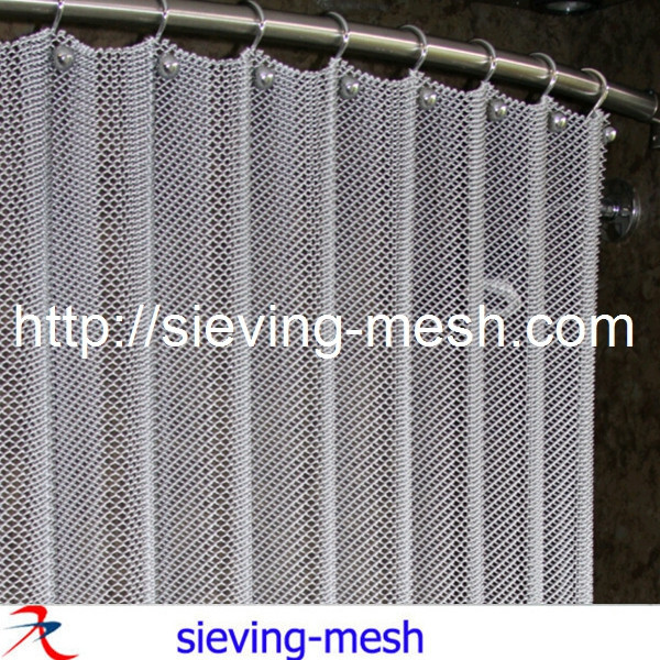 Metal Wire Shower Curtain Mesh Hotel