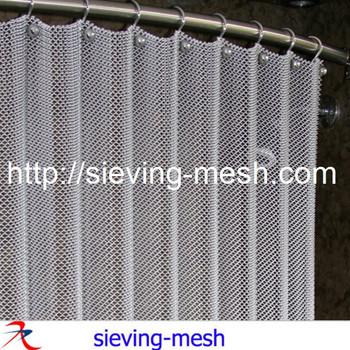Metal Wire Shower Curtain Mesh Hotel