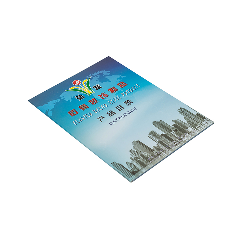 Low MOQ nice quality film lamination surface catalog printing for advertising