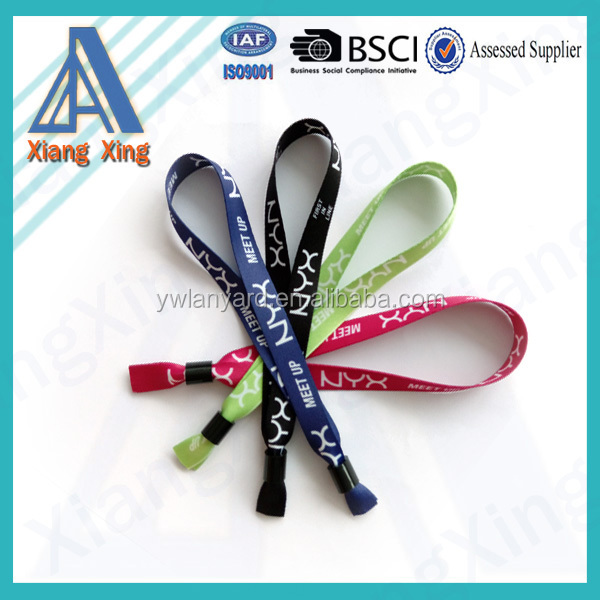 custom polyester satin bracelets /personalized woven fabric bracelets/ wristband printing machine