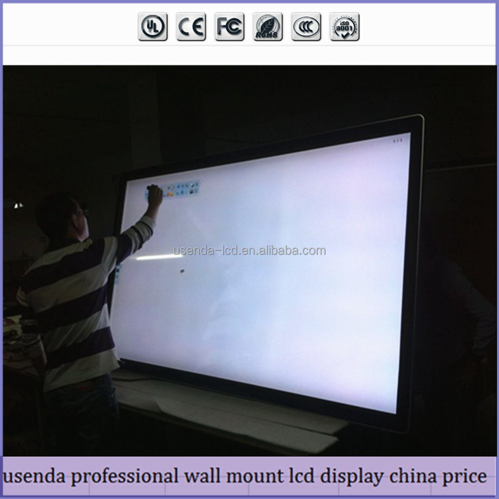 Wall mount table stand advertising display advertising monitor with all in one pc function