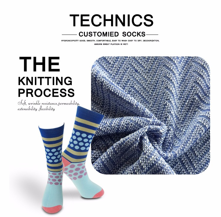 Bamboo Clothing Wholesale Europe: Wholesale Fashion Happy Socks Custom Colorful Cotton Crew