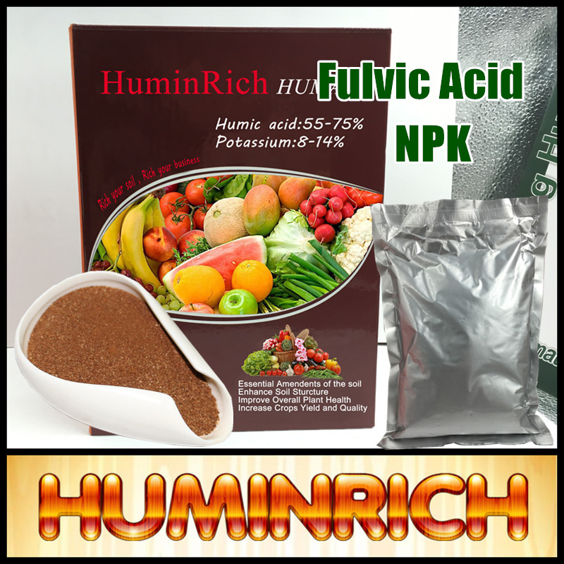 Huminrich Foliar Spray Organic Liquid Humic Concentrate 100% Best Fulvic Acid Fertilizer Manufacturer